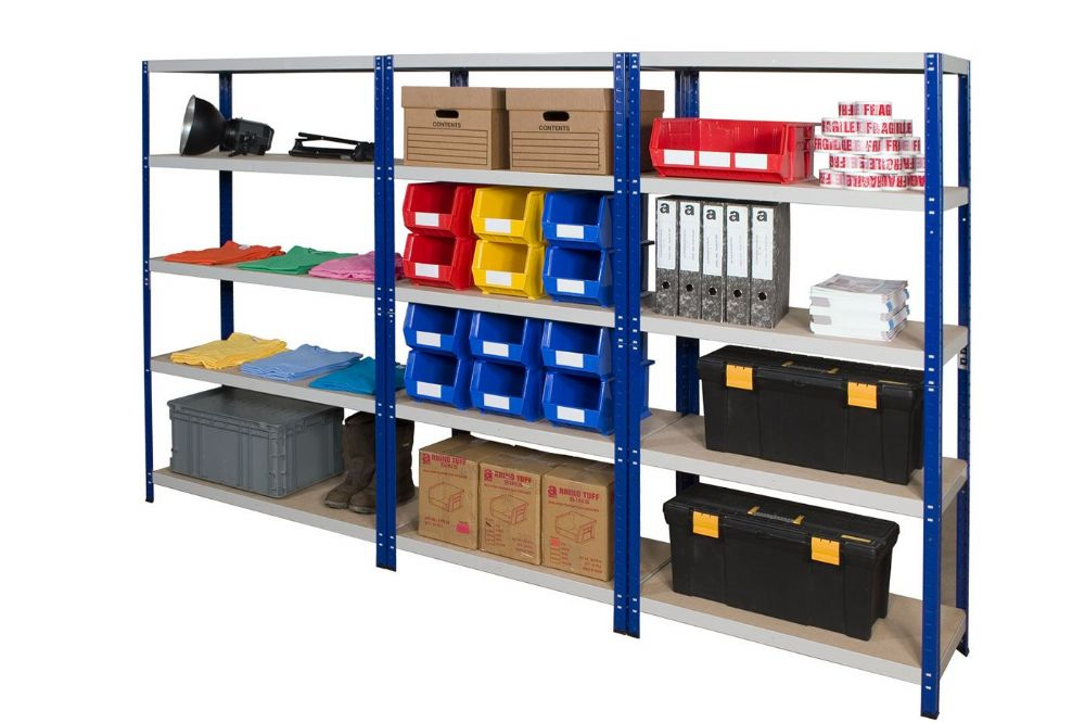 3 Bays of Shelving - 900mm Wide